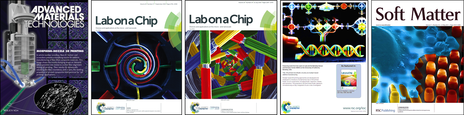 Journal covers from the BAM Lab